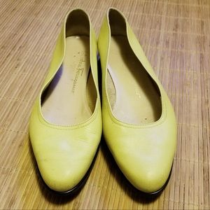 Salvatore Ferragamo Citrus Leather Flats